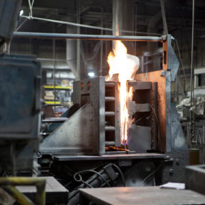 Permanent mold casting equipment