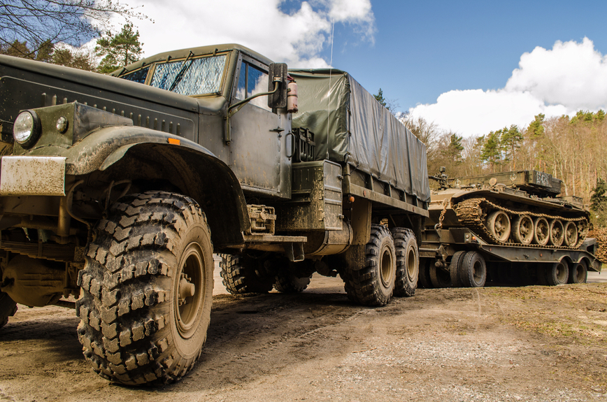 Heavy duty military vehicles